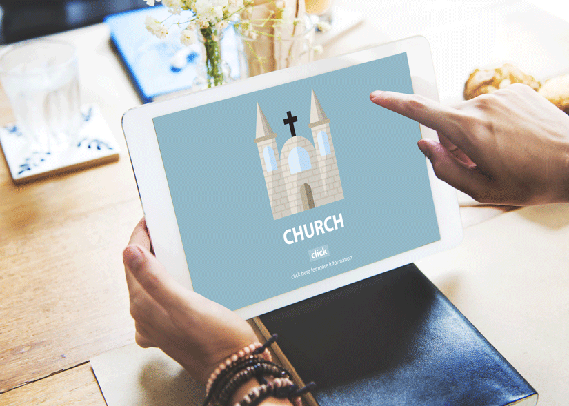 People still visit churches in person but many are also looking to practice their faith online