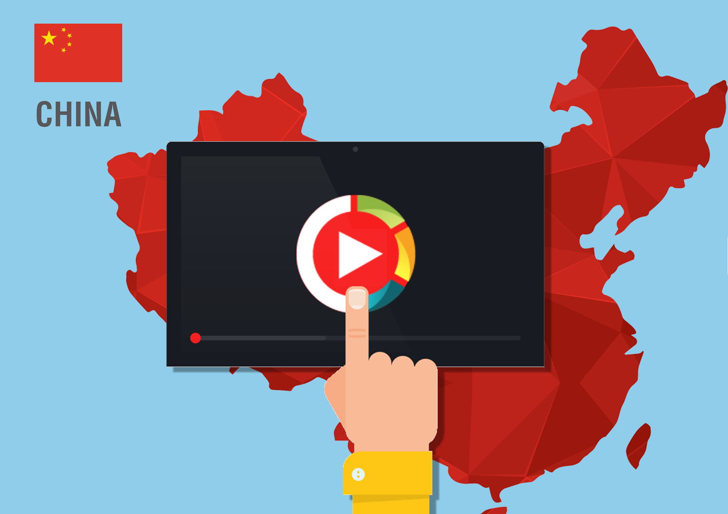 Video hosting and live streaming service that works inside China