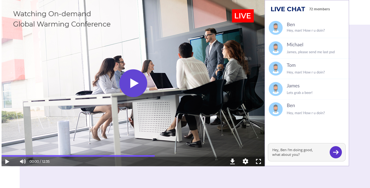Live Chat Video Streaming